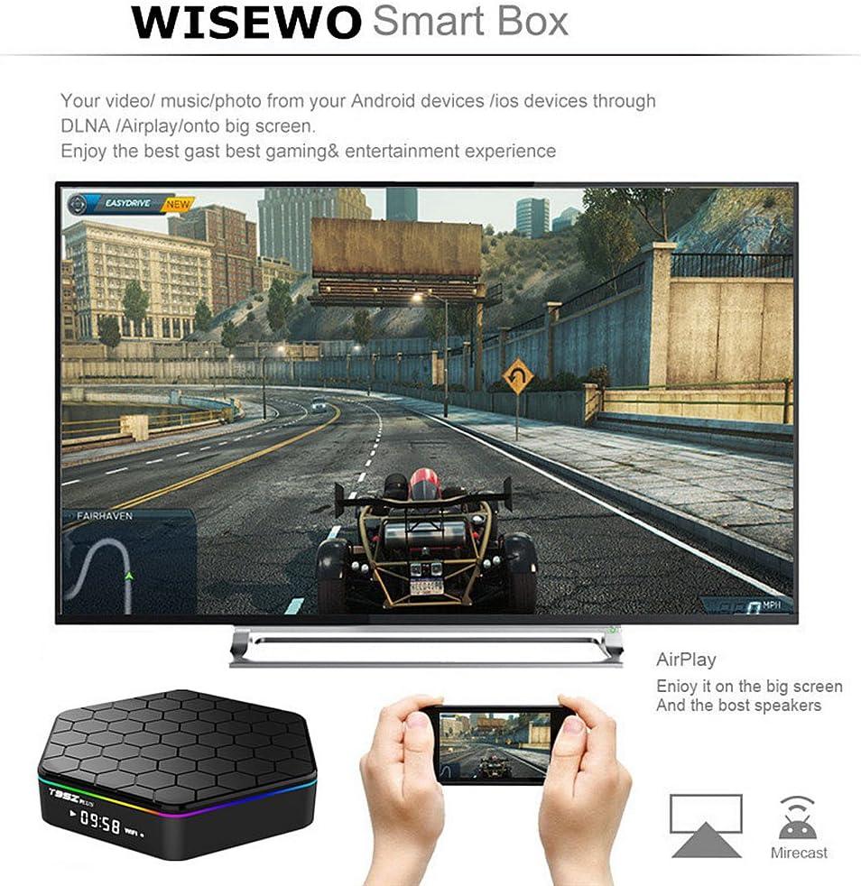 WISEWO Android TV Player Set Top Box HD Video Media Box Amlogic S912 Octa Core CPU 3GB//32GB Smart Box Mini PC Support 4K2K 3D BT 4.0 Dual Band WiFi with Wireless Touchpad Mini Keyboard