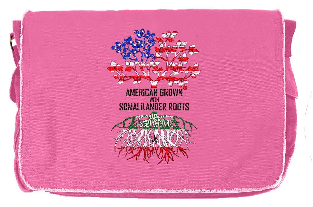 Tenacitee American Grown with Somalilander Roots Royal Blue Brushed Canvas Messenger Bag