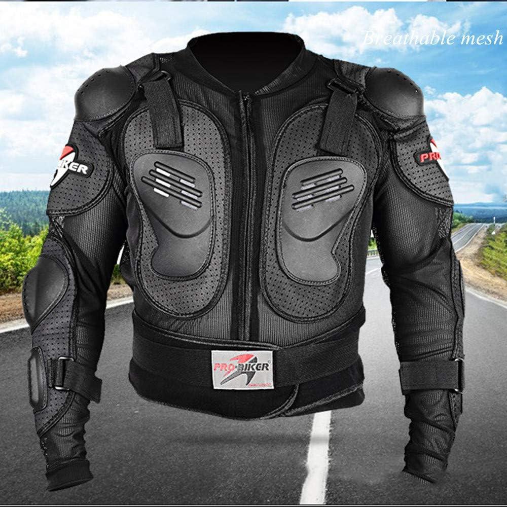 Chaqueta De La Camisa Protectora Del Campo A Trav/és Del Motocross De La Calle LINGKY Ropa Protectora De La Armadura Completa De La Motocicleta Protecci/ón Trasera