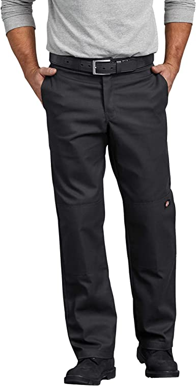 Amazon Com Dickies Men S Flex Regular Straight Fit Double Knee Work Pant Work Utility Pants Clothing