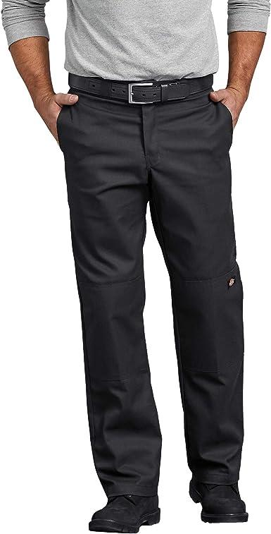Amazon Com Dickies Pantalones De Calce Recto Con Dobladillo En Rodilla Para Trabajar Para Hombres Clothing