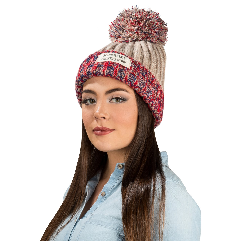 Aerusi Women s Echo Warm Pompom Knit Cuffed Beanie (Biege) at Amazon  Women s Clothing store  07e27bd0789