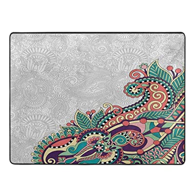 Flowers Barefoot Area Rugs Floral Background