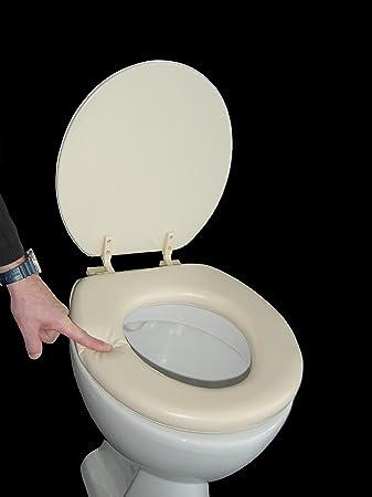 Soft Padded Toilet Seat beige: Amazon.co.uk: DIY & Tools