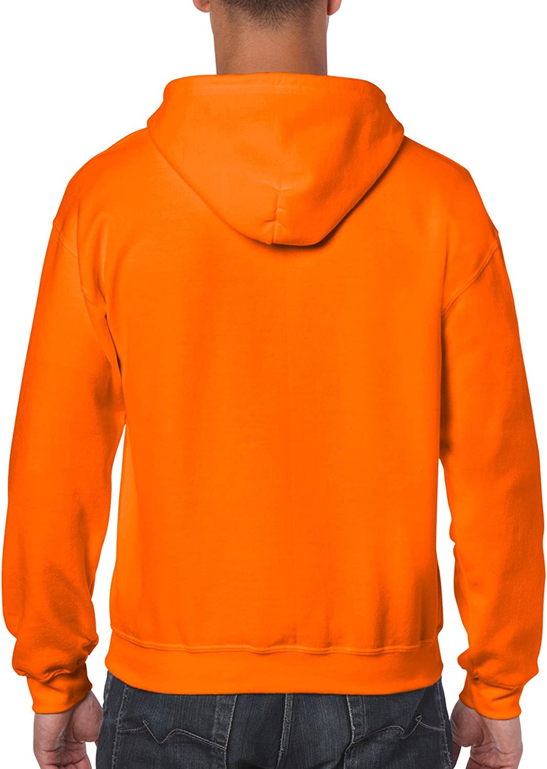 Gildan 18600 Heavyweight Blend Kapuzenpullover mit Reißverschluss Safety Orange