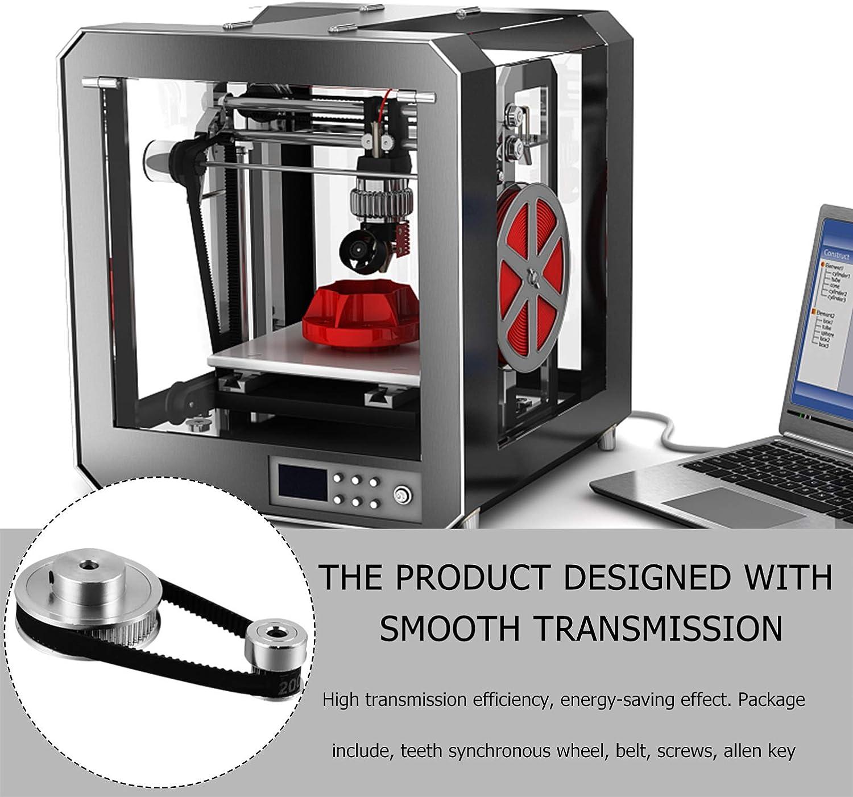 UKCOCO 1 Jeu de Vitesses Variables Poulie Courroie M/écanique Poulie de Distribution en Aluminium Poulie Synchrone Poulie Imprimante 3D Fournitures