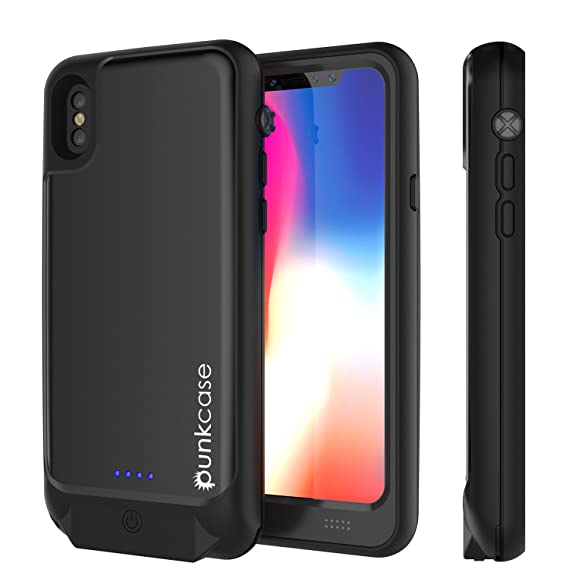 quite nice 7eed0 d44ab PunkJuice iPhone X Battery Case, Waterproof IP68 Certified Charger Cover  W/Built-in Screen Protector [Ultra Slim] Fast Charging & Protective 3600mAh  ...