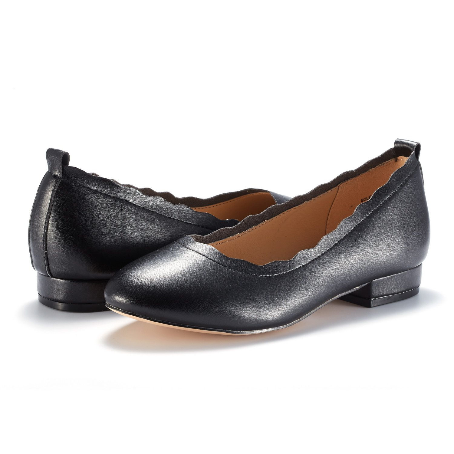 DREAM PAIRS Women's Sole_Elle Black/PU Fashion Low Stacked Slip On Flats Shoes Size 8.5 M US by DREAM PAIRS (Image #4)