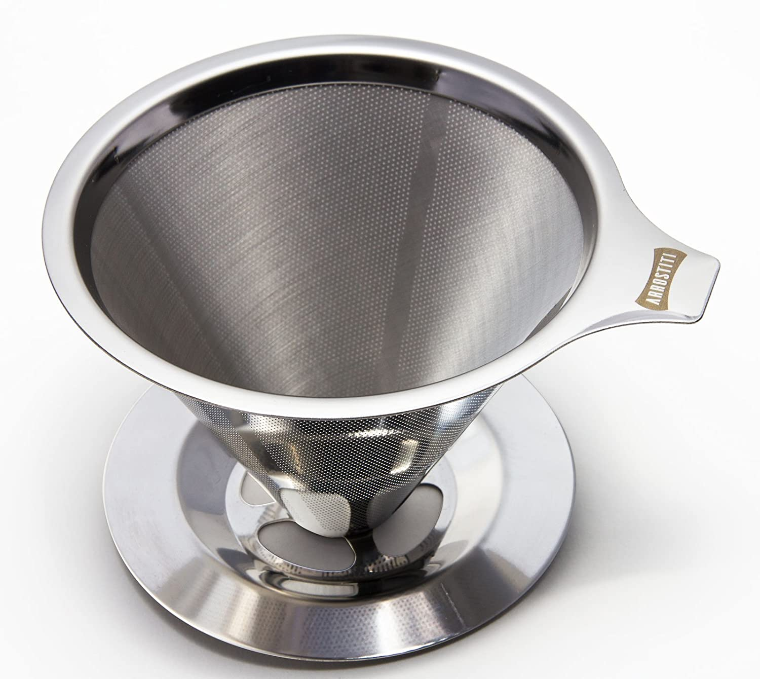 Stainless Steel Coffee Filter - Paperless & Reusable for the Best Pour Over Coffee Arrostiti 6321183