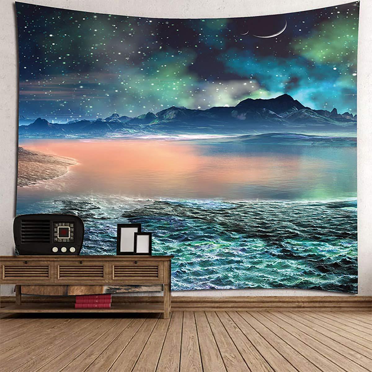 Shengyaju Deep Sea Star Home Wall Hanging arazzo Spiaggia Asciugamano 149,9 x 129,5 cm, Poliestere e Misto Poliestere, Multi1, 59X51Inches 9x 129 5cm