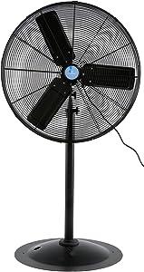 "Iliving ILG8P30-72 Commercial Pedestal Floor Fan, 30"""