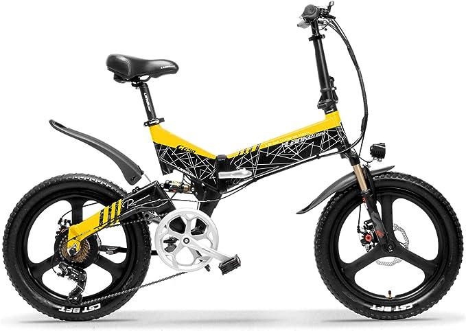 LANKELEISI G650 Bicicleta eléctrica Plegable de 20 Pulgadas 400W ...