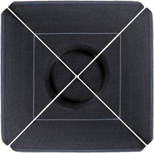 Le Papillon 4-pieces Cantilever Offset Umbrella Base Weight Plate, Black