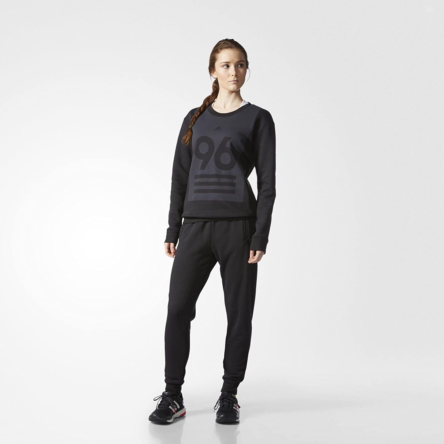 adidas Damen Crewneck Trainingsanzug