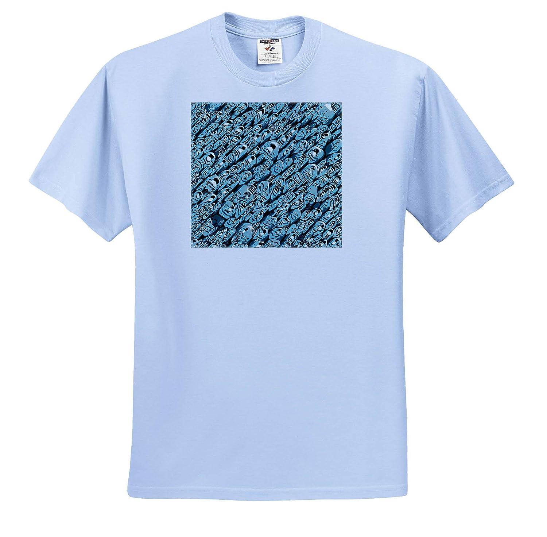 T-Shirts 3dRose Perkins Designs Abstract Contemporary Abstract of Similar Repeating Shapes Along Diagonal axis
