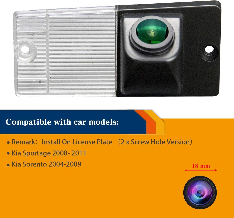 Reversing Camera Integrated in Number Plate Light License Rear View Backup Camera Waterproof Night Vision for KIA Sportage 2004-2010 Sorento 2002-2009 Misayaee