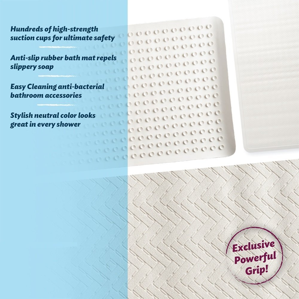 Amazon.com: Epica Anti-Slip Machine Washable Anti-Bacterial Bath Mat ...