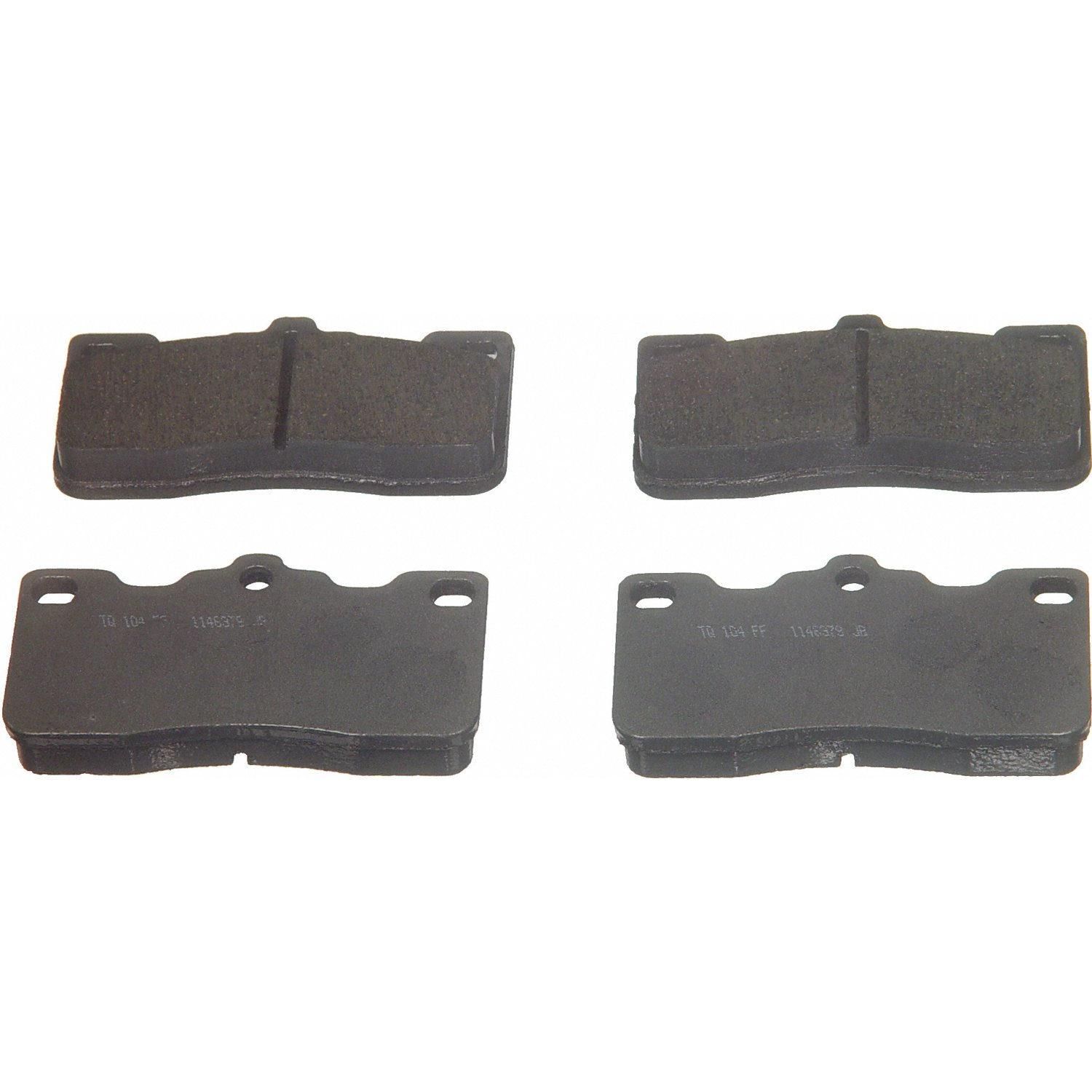 Wagner ThermoQuiet PD243 Ceramic Disc Pad Set Rear