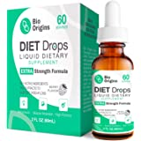 Bio Weight Loss Drops for Women & Men, Diet Drops for Weight Loss, Key Active Ingredients Niacin and Powerful Extracts, Hormone-Free HCG-Free Extra Strength Formula, 2 Fl Oz