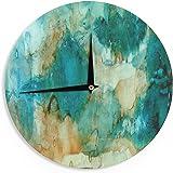 """KESS InHouse Rosie Brown """"Waterfall"""" Teal Blue Wall Clock, 12"""""""