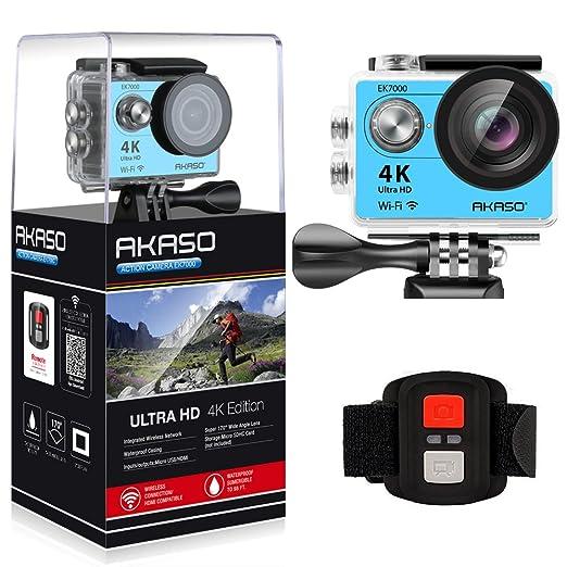 112 opinioni per AKASO EK7000 WIFI 4K Videocamera, Action Camera Sport, Macchina Fotografica