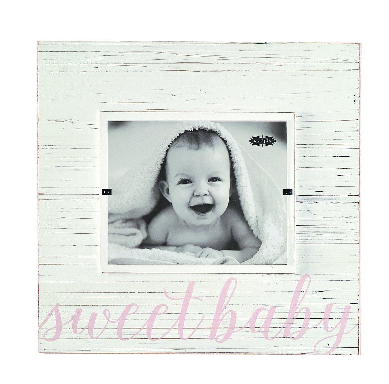 amazoncom mud pie sweet baby deluxe wood frame nursery dcor pink 8 x 10 baby - Mud Pie Frames