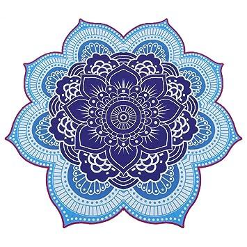 Ronda de flor de loto Mandala tapiz Luz Peso toalla de playa Bañador para UPS: Amazon.es: Hogar
