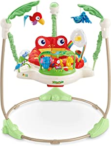 Xiangtat Baby Finding Activities Rainforest Jumperoo , Multifunctional Electric Baby Jumper Infant Bouncer Walker with mucisc Rocking chiar Baby cardle