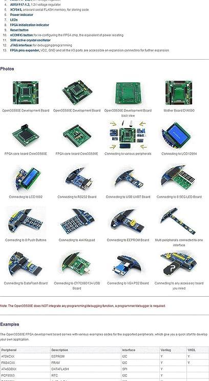 Waveshare XILINX Spartan-3E XC3S500E XILINX FPGA Development Board + ...