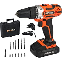 18V Lithium-ion Cordless Drill with Kit Box Orange Drill Drivers for DIY VPCD2121