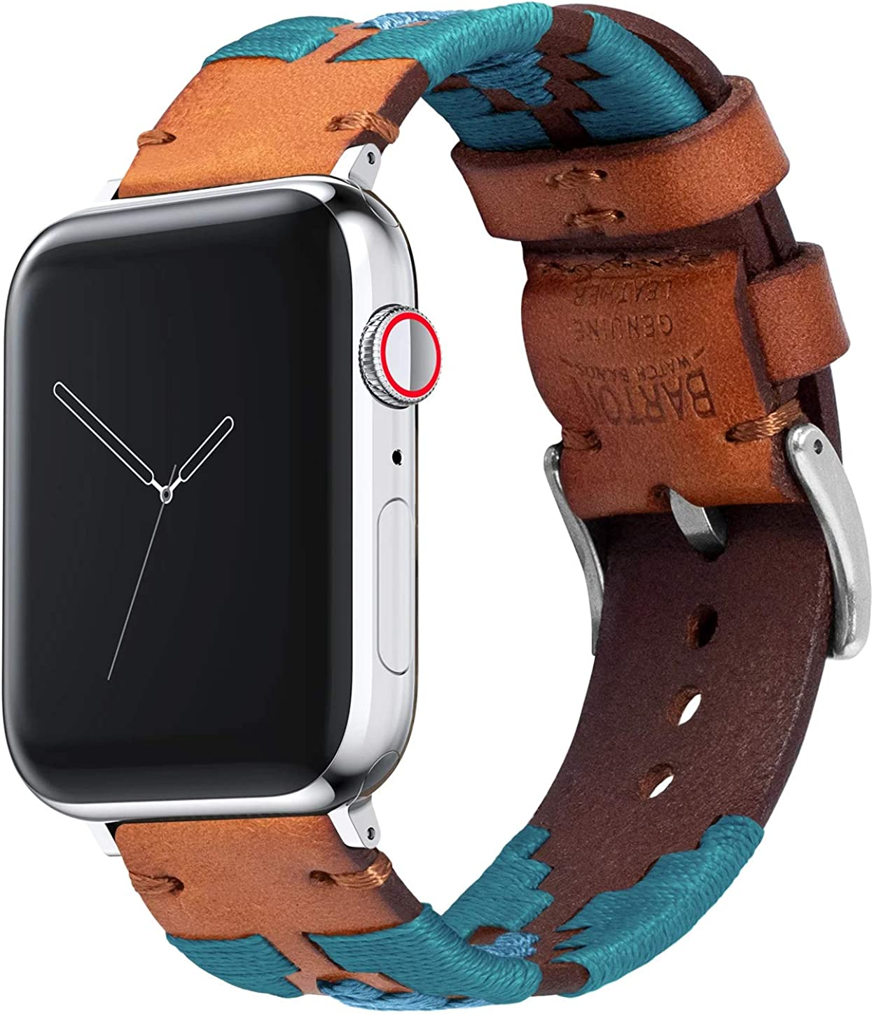 Barton Gaucho Leather Quick Release Watch Band Straps - Compatible with Apple Watch