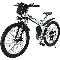 """Ancheer Vélo Electrique 26"""" e-Bike VTT Pliant 36V 250W Batterie au Lithium de Grande Capacité et le Chargeur Premium Suspendu et Shimano Engrenage"""