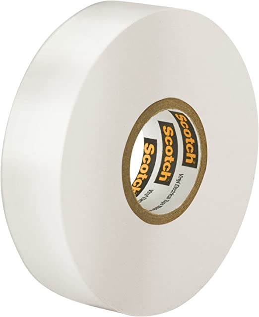 3M 35-WHITE-1//2X20FT Scotch Vinyl Electrical Color Coding Tape BOX OF 10 WHITE