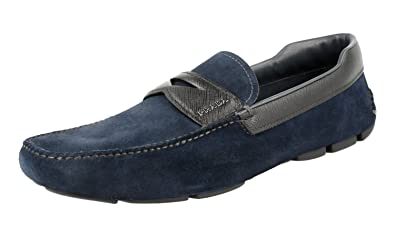 Men's 2DD116 MF3 F0HDP Brushed Spazzolato Leather Loafers