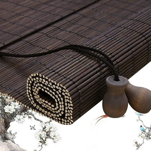 Persiana Romana De Bambú Rollo Persianas Persianas de Madera/Material de Persiana de Bambú Filtración Solar Sombra Balcón Ventana Carport Pergola (Color : A, Size : 80x160cm): Amazon.es: Hogar