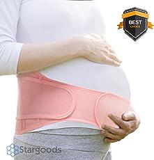 Stargoods Faja de Embarazo y Maternidad, Prenatal, Post Parto y Cesárea con Soporte Lumbar Ajustable para Abdomen y Espalda