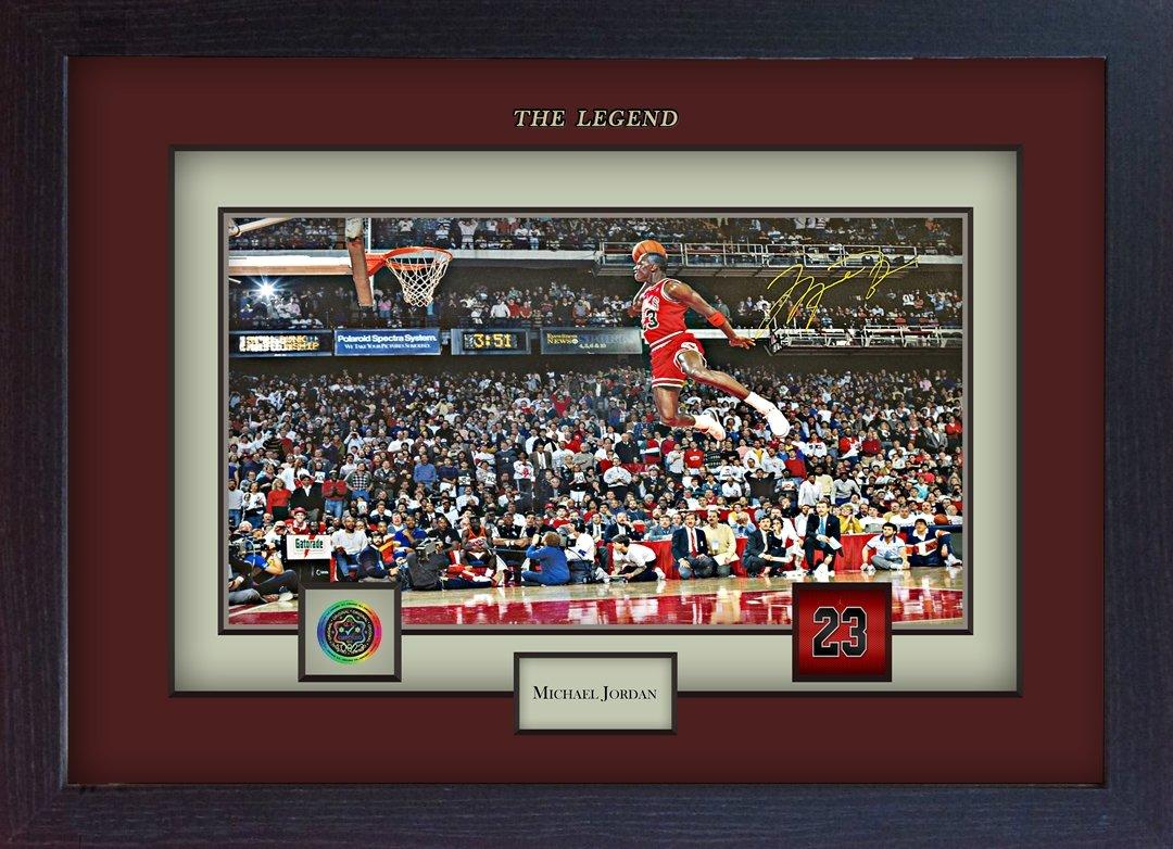 Michael Jordan SIGNED Autograph Basketball Kuriositäten NBA gerahmt ...