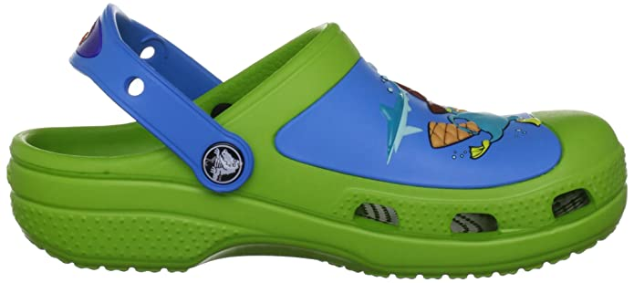 Crocs CC Phineas & Ferb, Unisex-Child Clogs, Green (Volt Green/Ocean), 4/5  UK Child: Amazon.co.uk: Shoes & Bags