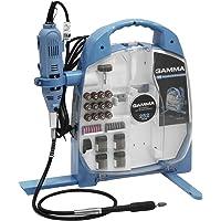 Micro Retífica com Kit de Acessórios 252 Peças 127V, Gamma Ferramentas G19502/BR1, Azul