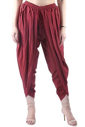 bf27aada88 Khazana Basics Maroon Kantha Work Cotton Dhoti Pant, Patiala Dhoti Salwar,  Dhoti Trouser for