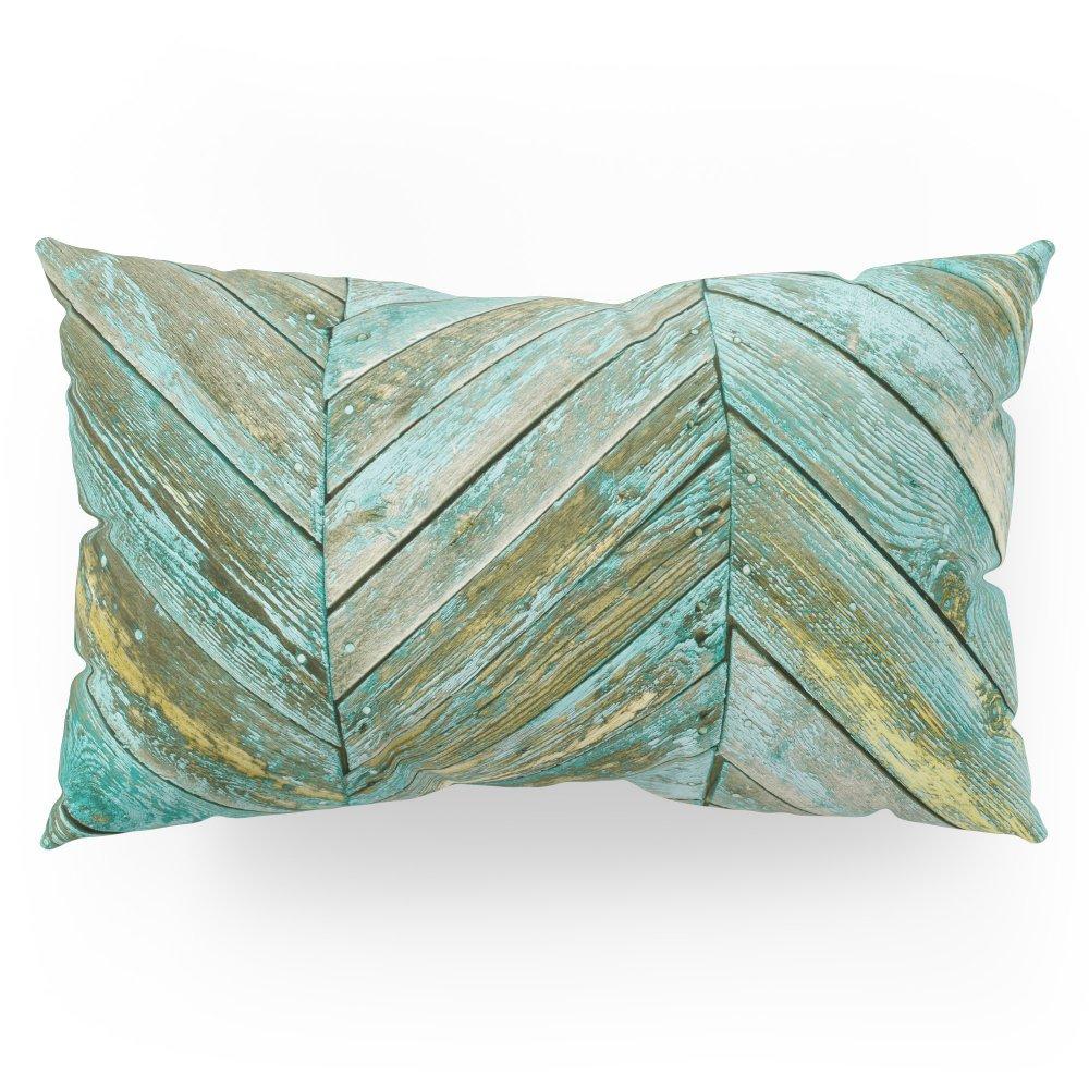 Society6 Vintage Blue Wood Pillow Sham King (20'' x 36'') Set of 2