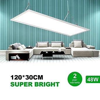 Natur panel led Slim 120x30cm 50W 6000lm, iluminacion led Blanco ...