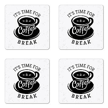 Amazon.de: \'Untersetzer-Set, 4 Stück, für Kaffee, Tasse, Aufschrift ...