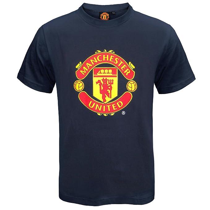 Manchester United FC - Camiseta oficial para niños - Con el escudo del  club  Amazon.es  Ropa y accesorios 21fa2f3ba74d9