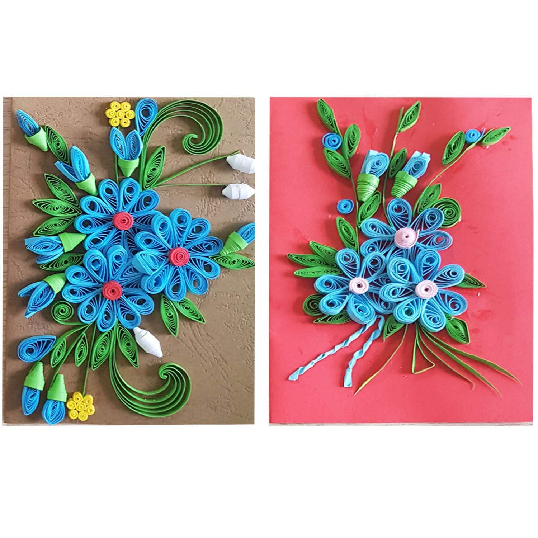 Handmade Quilled Flower Design Set of 2 Cards