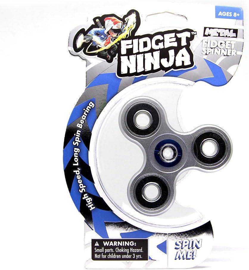 YoYo Factory Fidget Ninja Spinner de Metal - Plateado: Amazon.es: Juguetes y juegos
