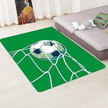 Wddwymll Fussball Muster Teppiche Fur Wohnzimmer Dekor