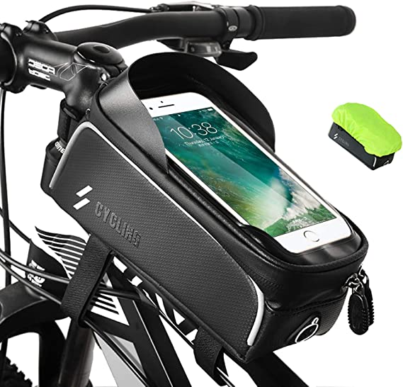 Amazon Com Cbrsports Bike Phone Front Frame Bag Waterproof Phone Mount Top Tube Cycling Bag Bicycle Phone Pack Case Holder Cycling Pouch Accessories For Iphone 11 Plus Xs Max Below 6 5