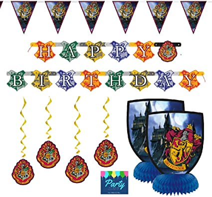 Amazon.com: Kit de decoración de fiesta de Harry Potter por ...