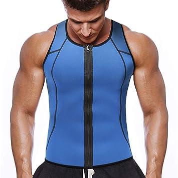 Novecasa Neopreno Sauna Zipper Sudoración Cremallera Hombre De Chaleco Adelgazante Modelador Reductora Con Vest Camiseta Para Compresion Ibf6y7gvY